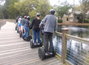 Segway tours explore all different parts of the Hilton Head and even go on bridges over ponds and marshes filled with fish, turtles and sometimes alligators.