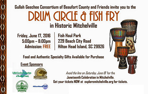2016 Drum Circle and Fish Fry on Hilton Head Island