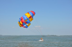 H20 Sports offers a variety of water sports, including parasailing.