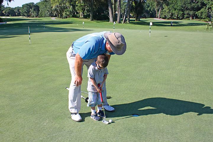 Doug Weaver teaching child