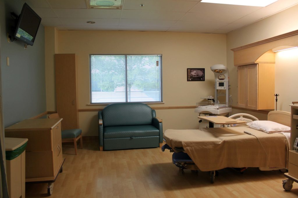 There are six labor and delivery rooms in the hospital.