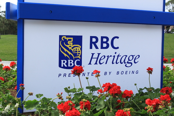 golf rbc heritage sign