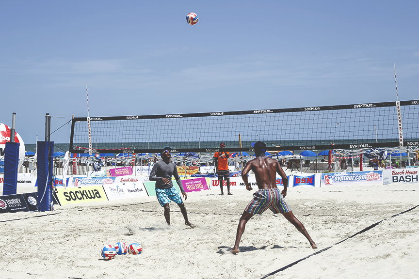 The Beach House at Coligny has tons of public Volleyball courts open to the public.