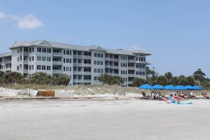 Condos on the beach have beach chair and umbrella rentals available.
