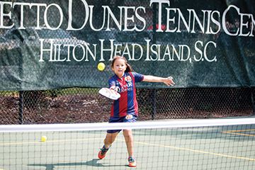 Young Elizabeth takes to pickleball.