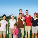 family and friends golfing