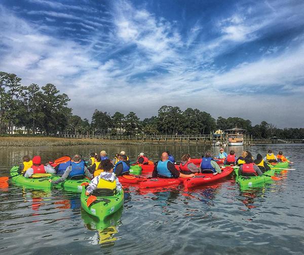 kids in kayaks Hilton Head