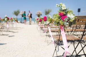 wedding-aisle for beach wedding on hilton head island